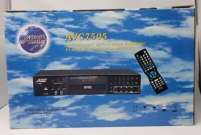 Audio2000 AVC7505 Recordable MP3+G PRO Karaoke Player HDMI w/Remote Complete NIB