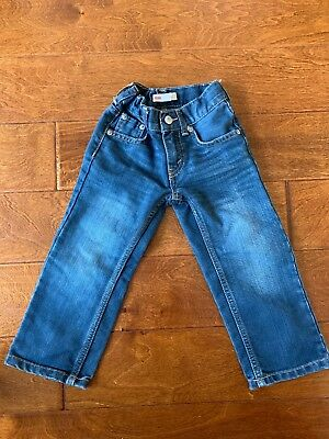 NWOT NEW Levi's 505 TODDLER BOYS Straight Leg JEANS Sz 3T Adjustable Waist