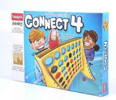Funskool The Original Game of Connect 4 Connect-4 (big) Board Game Checker Dropp