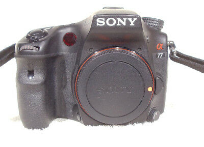 Sony Alpha SLT-A77 24.3MP Digital SLR Camera Body,Strap,2-Batteries,Charger, Ex+