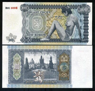 Bohemia, 100 Korun, Private Issue, 2019, Limited Issue 1000 pcs Nude Allegory