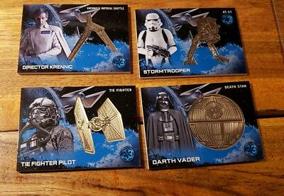 Star Wars Rogue One Series 1 Medallion Card Lot of 4