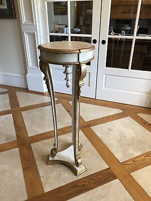 Karges Model 4749 Regency Stand In Antique White And Gold Finish