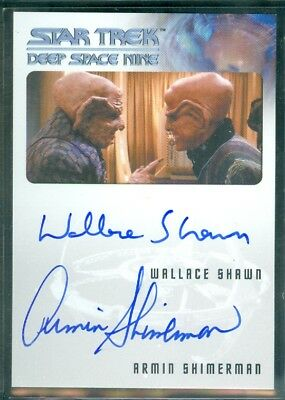 Star Trek DS9 Heroes & Villains Wallace Shawn / Armin Shimerman Dual Auto Card