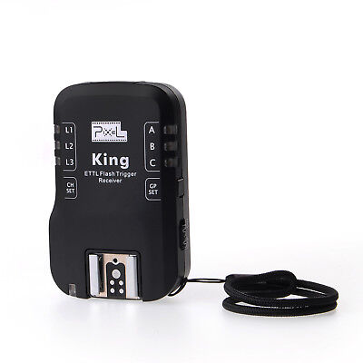 USA Pixel King X 2.4G Wireless TTL Flash Trigger Receiver USB Upgrade For Canon