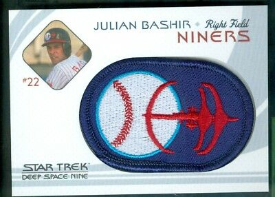 Star Trek DS9 Heroes & Villains ( BP 3 ) Niners Baseball Patch Insert Card