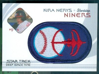 Star Trek DS9 Heroes & Villains ( BP 10 ) Niners Baseball Patch Insert Card