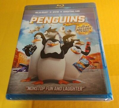 Penguins of Madagascar (Blu-ray+DVD+HD Digital)NEW-Free Shipping w/Tracking