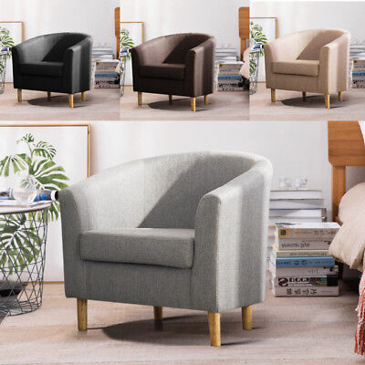 Linen Fabric Chair Dining Living Room