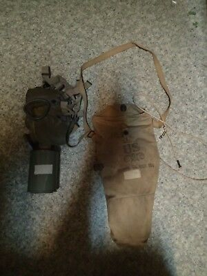 RARE WWII M1A1 Gas Mask US military Army Paratrooper Airborne WW2