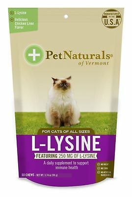 Pet Naturals L-Lysine Chews Cats, Immune Respiratory Support Supplement, ... New