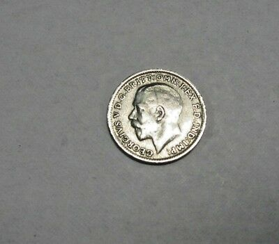 1920 ~ Great Britain~ Silver 3 Pence ~ Very Nice~