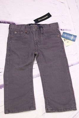 Lucky Brand Billy Straight Gray Denim Jeans Adjustable Waist Toddler Boy Size 2T