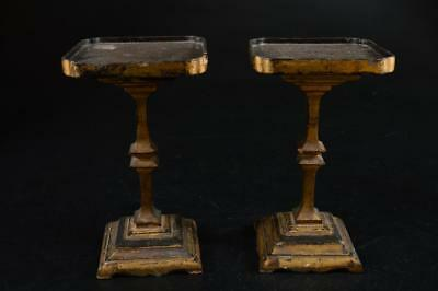 G4830:Japanese Wooden Shapely GARDEN TUB Flower vase stand 2pcs, Buddhist art
