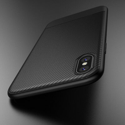Für iPhone X ShockProof Hybrid Nylon Carbon Case Hülle hi
