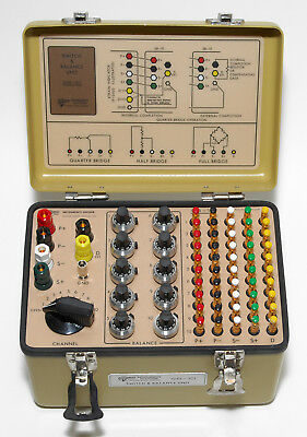 Vishay Meaurements Group SB-10 Switch and Balance Unit w/ Manual, Excellent Cond