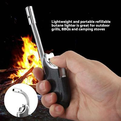 Flexible pipe jet torch butane gas cigarette lighter flame windproof Refillable