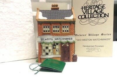"Dept 56 ""Geo Weeton Watchmaker"" Dickens Village Series-Hand Painted Porcelain"