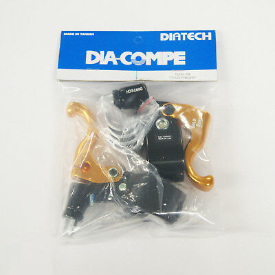 Dia Compe Tech 99DS Gold Finger Brake Lever Dc Tech99ds 1-fingr Rh Bk//bk