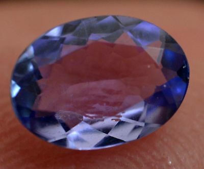 100% Natural Violet Blue Tanzanite 6 x 4 mm Gem Stone 0.65 Ct AGSL Certified