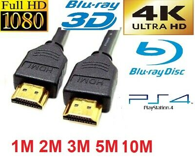 PREMIUM HDMI UltraHD Cable v2.0 0.5M/1M/1.5M/2M-5M High Speed 4K 2160p 3D Lead