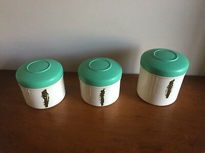Art Deco Bakelite 1930s EON Spice Canisters X 3 In Set