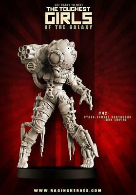 Raging Heroes Iron Empire 28mm #42 - Cyber Zombie Bodyguard Pack MINT