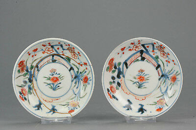 Antique 17/18C Japanese Edo Porcelain Imari Arita Dish flowers Birds[:zh...