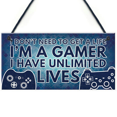 Gamer Gaming Bedroom Gifts Funny Novelty Christmas Birthday Gift For Son Brother