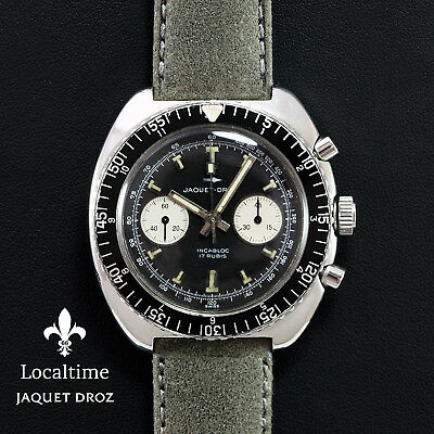 Lovely 1960's JAQUET DROZ (Swiss) Vintage Chronograph Watch – Landeron Cal. 149