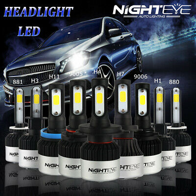 Nighteye H1/H3/H4/H7/H11/9005/9006 Canbus Adapter LED Headlight Bulb Lamps 72W