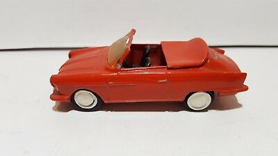 Vintage White Metal BMW 700 ? NSU Wankel Cabrio? used condition for renovat.1:43