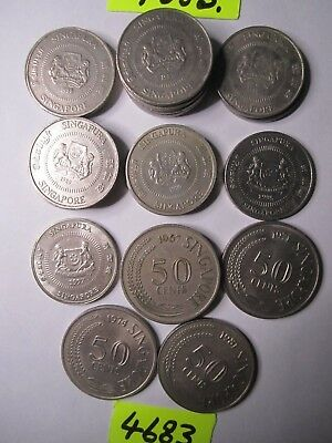 21 x  coins  Singapore   200    gms      Mar4683  CULLED