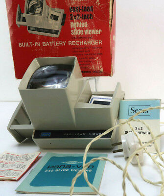 """Vintage Sears 9926 Easi-Load Lighted 2X2"""" Slide Viewer W/ Box Tested Ships Fast!"""