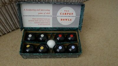Vintage B & A Bowls The Indoor Carpet Game boxed