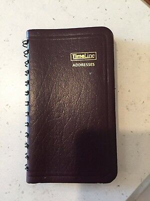 "Vintage At-A-Glance TimeLine Small Brown Address Book— Tabs USA 5"" x 2 ¾ soy pap"