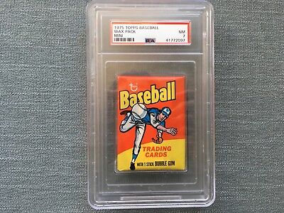 1975 Topps Mini Baseball Unopened Wax Pack PSA 7 Near Mint