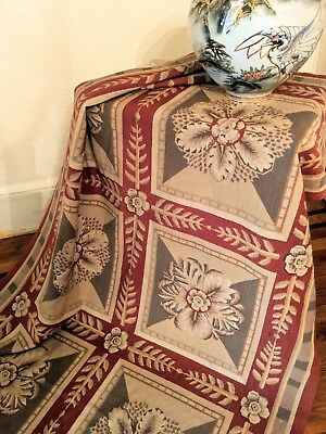 Fine Antique Needlepoint Tapestry French Medallion Abusson Rug French Farmhouse