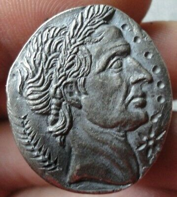 Ancient Roman Senatorial Legionary SIilver Ring JULIUS CAESAR Museum Quality