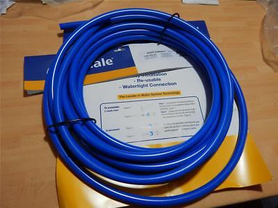 Whale Caravan Boat Quick Connect 15mm O/D MDPE Blue Tubing 10mtr roll length