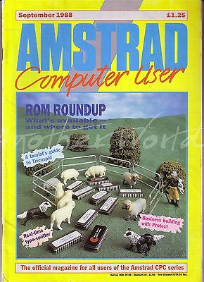 Amstrad Computer User / ACU Magazine - September 1988 - Good Condition - Bagged