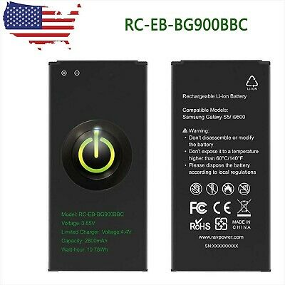 Battery Replacement 2800mAh EB-BG900BBC Fit Samsung Galaxy S5 I9600 USA