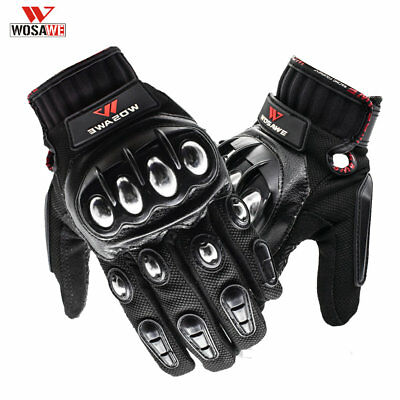 Racing Gloves Motorcycle Hard Armor Motorbike Full Finger Touch Screen size M