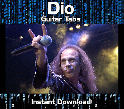Ronni James Dio Rock Guitar Tab Tablature Download Software Tuition