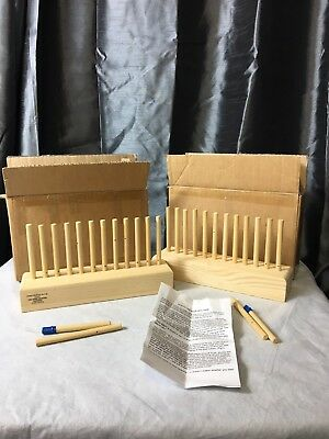 2x Wooden Peg Weaving Loom 26cm by The Hand Weaving Company Excellent Conditn#F