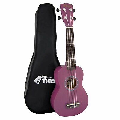 Tiger Purple UKE7 Soprano Ukulele Kit Beginners Pack