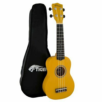 Tiger Yellow UKE7 Soprano Ukulele Kit Beginners Pack