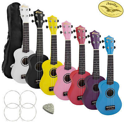 Tiger Soprano Beginners Ukulele with Gig Bag, Felt Pick, Spare Strings