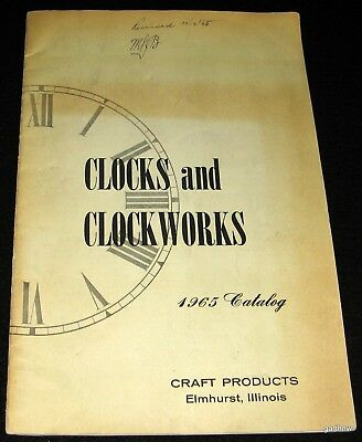 Clocks And Clockworks 1965 Catalog Craft Products Grandfather Chimes & Supplies