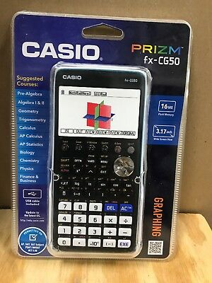 Casio FX-CG50 Prizm 3-D, Color-Display Graphing Calculator, New